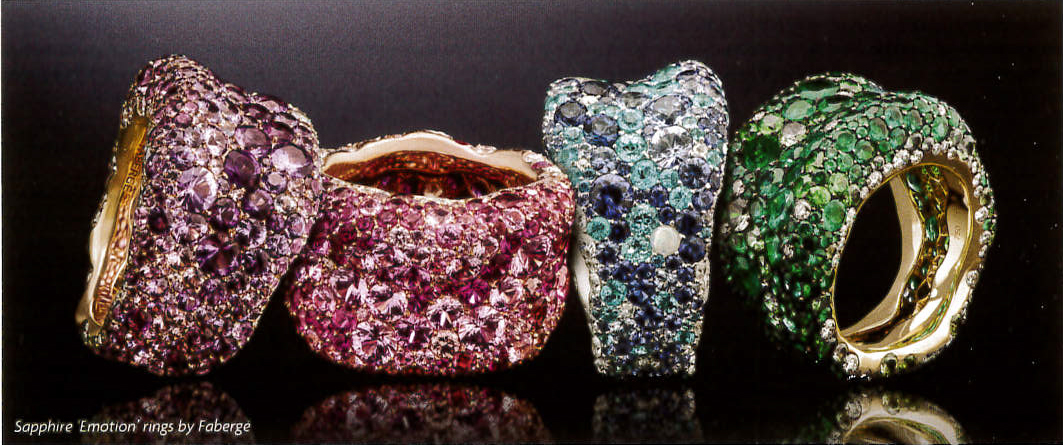 Sapphire 'Emotion' Rings by Faberge